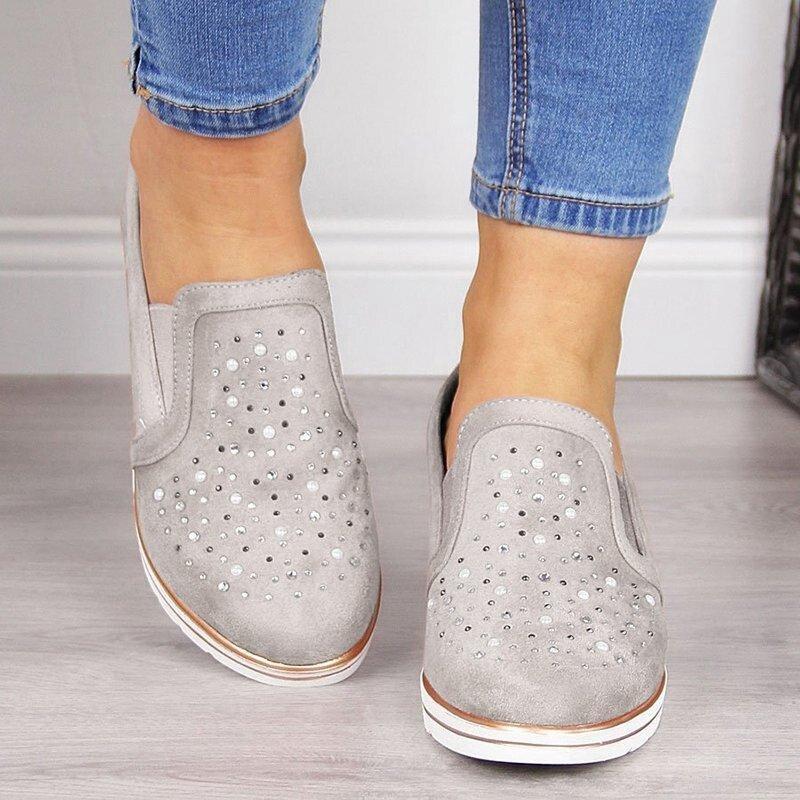 WENYUJH 2019, zapatos planos sin cordones para mujer, zapatillas de plataforma para Primavera, zapatos planos de cuero informales para mujer, mocasines