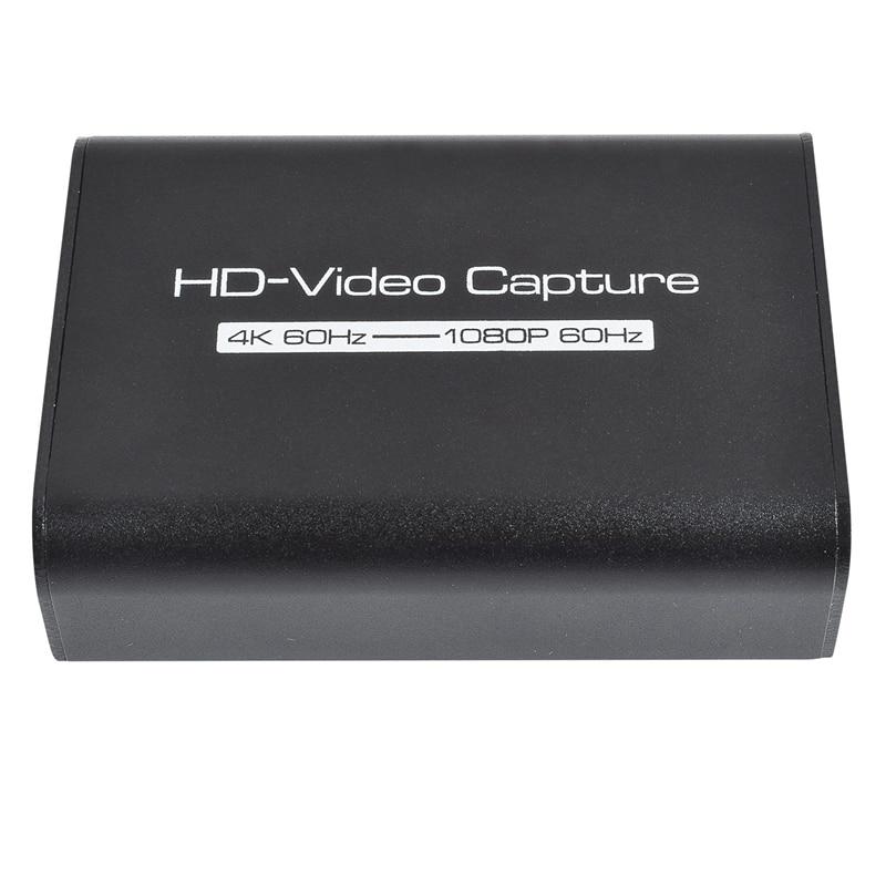 HD التقاط الفيديو HDMI بطاقة التقاط الصوت والفيديو التقاط الفيديو HDMI فيديو بطاقة التقاط الصوت والفيديو 4K صندوق تسجيل مباشر