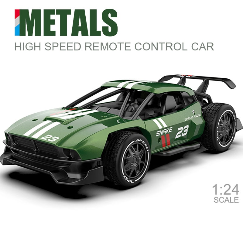 سيارة سباق معدنية تعمل بالتحكم عن بعد للأطفال ، 2.4G 4CH ، جهاز تحكم عن بعد ، سيارة كهربائية صغيرة RC ، سيارة انجراف ، 1/24