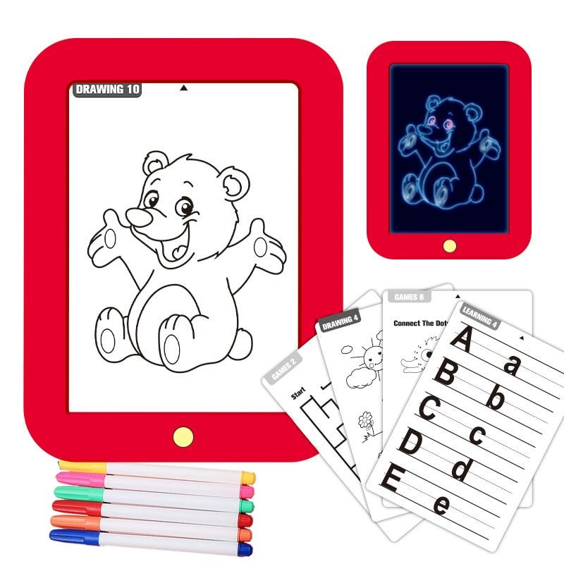 Planche à dessin magique 3D pour enfants, plaque peinte à la main colorée et lumineuse, planche d'écriture électronique, peinture Graffiti
