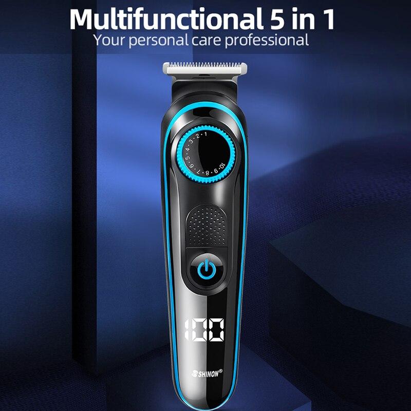 الشعر القاطع آلة الاستمالة جميع-في-على المهنية الشعر المتقلب للرجال الوجه الجسم آلة الحلاقة الكهربائية الشعر المقص اللحية المتقلب