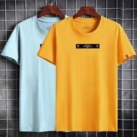 t shirts men new arrival 2021 summer slim fit top mens short sleeve t shirt casual tshirt plus size 6xl men clothing white tee