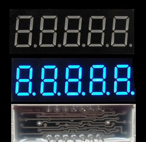 2PCS 0,36 zoll 5 digit Blaue led-anzeige 7 seg segment Gemeinsame Kathode
