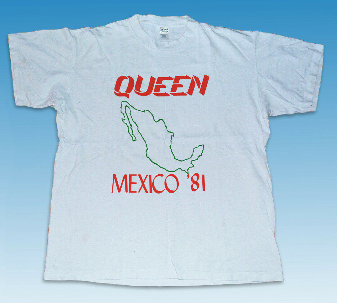 Camiseta Vintage Queen 1981 The Game Mexico Tour