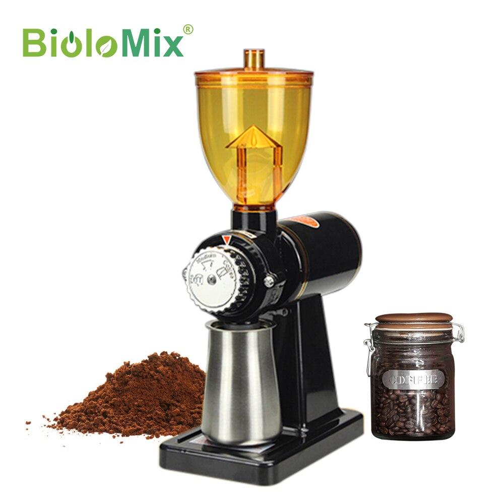 BioloMix مطحنة بن كهربائية آلة القهوة millling شقة نتوءات طاحونة المنزل مطحنة حبوب القهوة 220 فولت/110 فولت