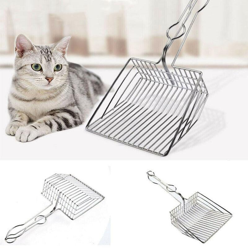 Cat Litter Scoop Metal Waste Scooper Poop Pet Sand Shovel Cleaning Tools