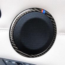 Garniture de cadre stéréo pour BMW série 3   Décoration intérieure en Fiber de carbone, autocollants de voiture pour autocollant E90 E92 E93 2008-2012