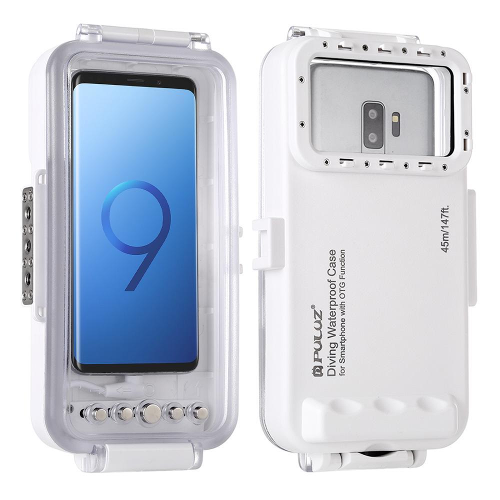 PULUZ-جراب غوص مقاوم للماء لتصوير الفيديو تحت الماء ، لهاتف Galaxy Xiaomi ، هاتف ذكي Android OTG مع منفذ من النوع C ، 45m/147ft
