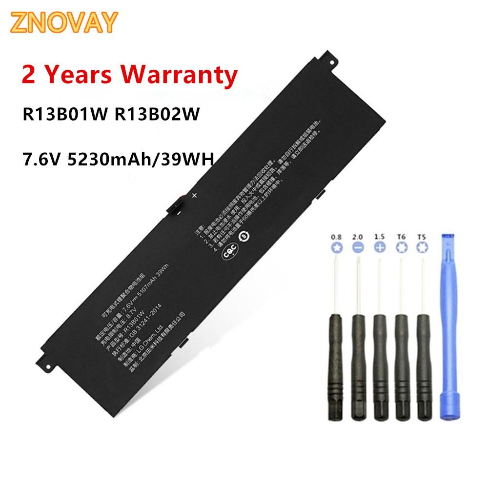 "R13B01W batería del ordenador portátil para Xiaomi Mi Air 13,3 ""Serie Tablet R13B02W 7,6 V 39Wh/5230mAh"