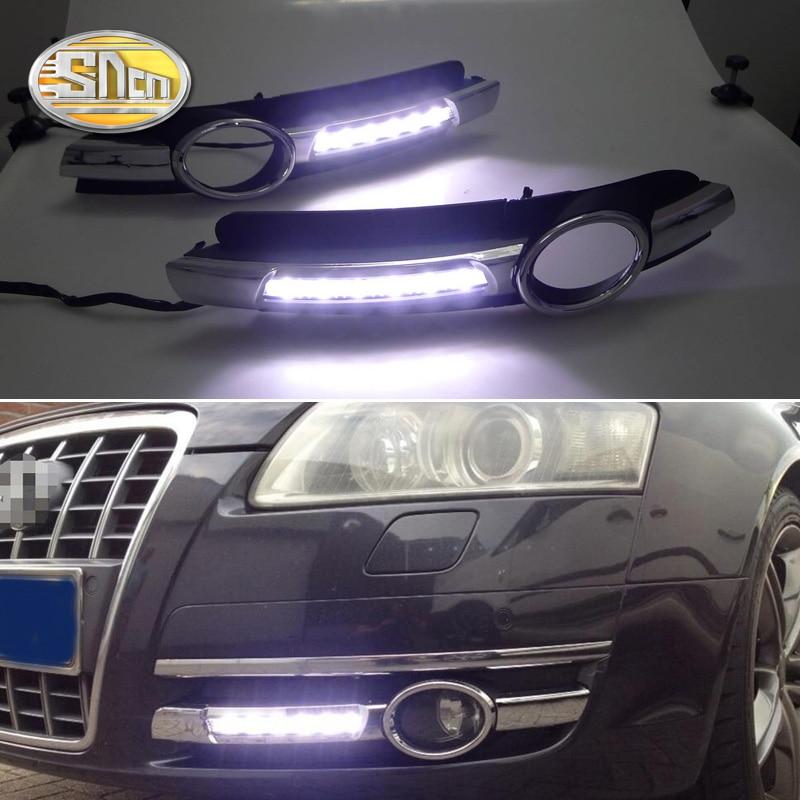 Para Audi A6 C6 2005 2006 2007 2008 luz diurna sin error Luz LED DRL antiniebla lámpara de conducción