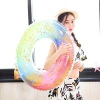 swimming circle ins hot sequined swimming ring inflatable pool float toy beach party adult kid inflatable mattress water toys