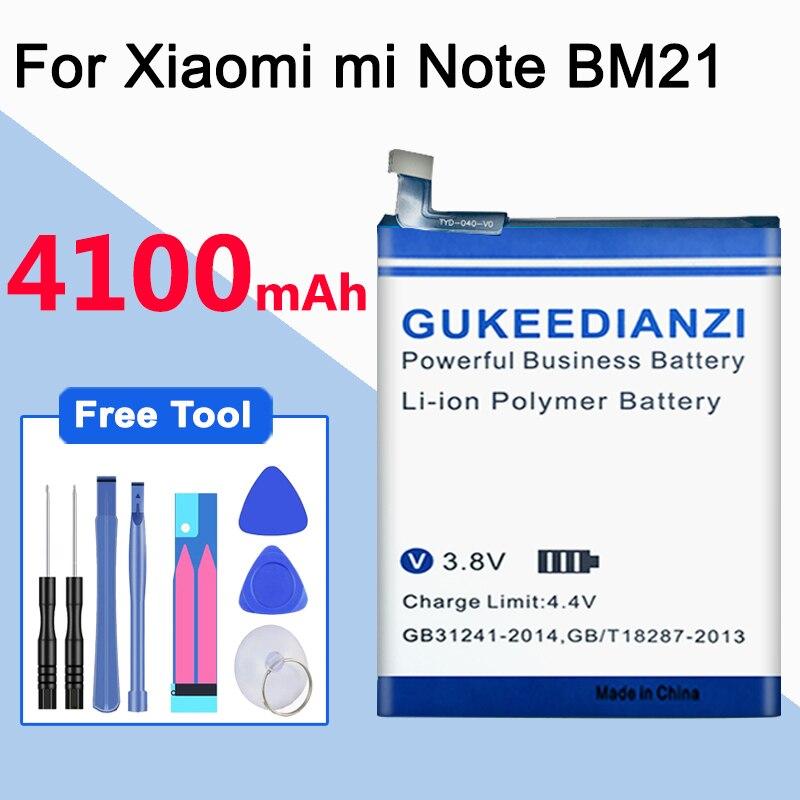Original GUKEEDIANZI para Xiaomi BM31 4100mAh batería para Xiaomi Mi 3 Mi3 M3 BM 31 baterías de reemplazo de teléfono de alta calidad
