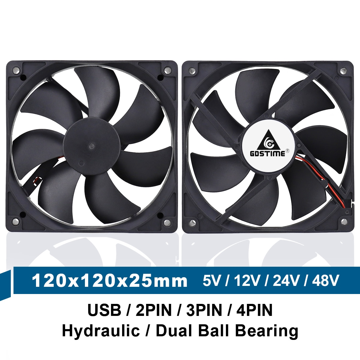 Фото - 5V 12V 24V 48V 120mm 12025 Sleeve/Ball Cooling Fan 120x120x25mm FG PWM USB 2PIN 3PIN 4PIN DC Cooler Fan for PC Computer Case coolmoon rgb controller 4pin pwm 5v 3pin argb cooling fan smart intelligent remote control for pc case chassis