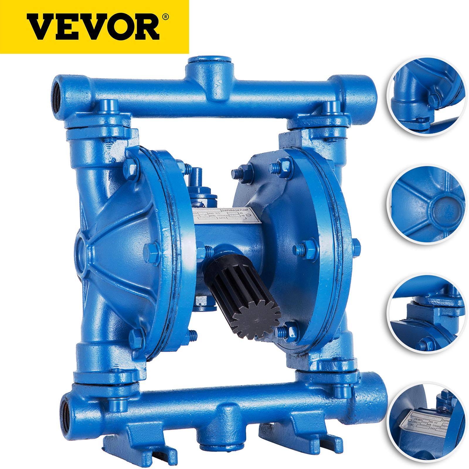 VEVOR تعمل بالهواء مضخة مزدوجة بحجاب حاجز 1/2in مدخل منفذ منخفض اللزوجة النفط السوائل مضخة هواء غشائية الحديد الزهر 12 GPB