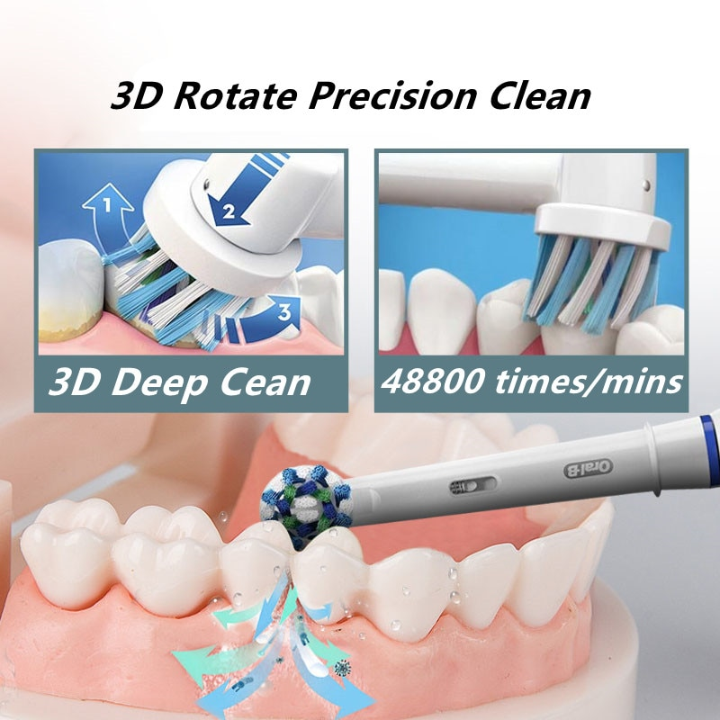 Oral B iBrush 9000 Electric Toothbrush 3D Sonic Rechargeable Tooth Brush Smart Bluetooth Detection 6 Modes Deep Clean for Adult enlarge