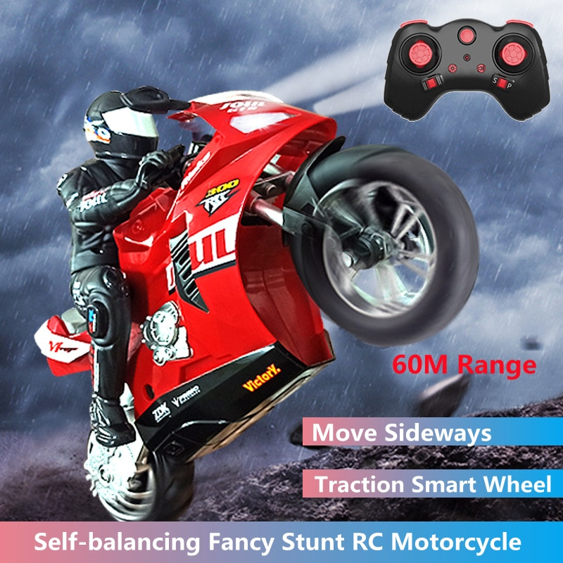 Self-balancing Fancy Stunt Simulation RC Motorcycle Move Sideways Stunt Driving In Situ Rotation Racing Kid's Remote Control Toy