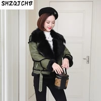 shzq sheepskin wool integrated womens short coat fur new loose leather leather clothes in winter