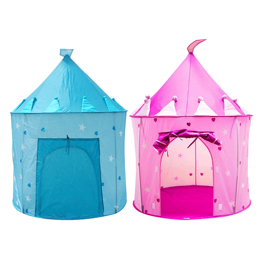 Rosa/Blau Tragbare Klapp Kinder Prinzessin Spielen Zelt Burg für Indoor/Outdoor Verwenden