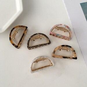 Korean Geometric Acetate Hair Claws Hair Crabs Clip Leopard Grain Hair Clamps For Women Fashion Hair Accessories Alloy Hair Claw