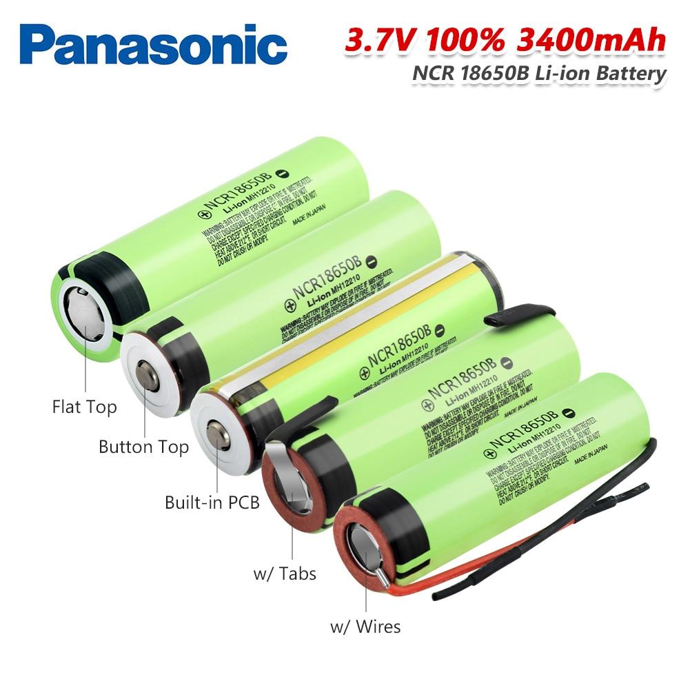 Panasonic 5 типов 3,7 в 18650 батарея 3400 мАч NCR 18650B литиевая аккумуляторная батарея NCR18650 для фонарей дистанционного управления