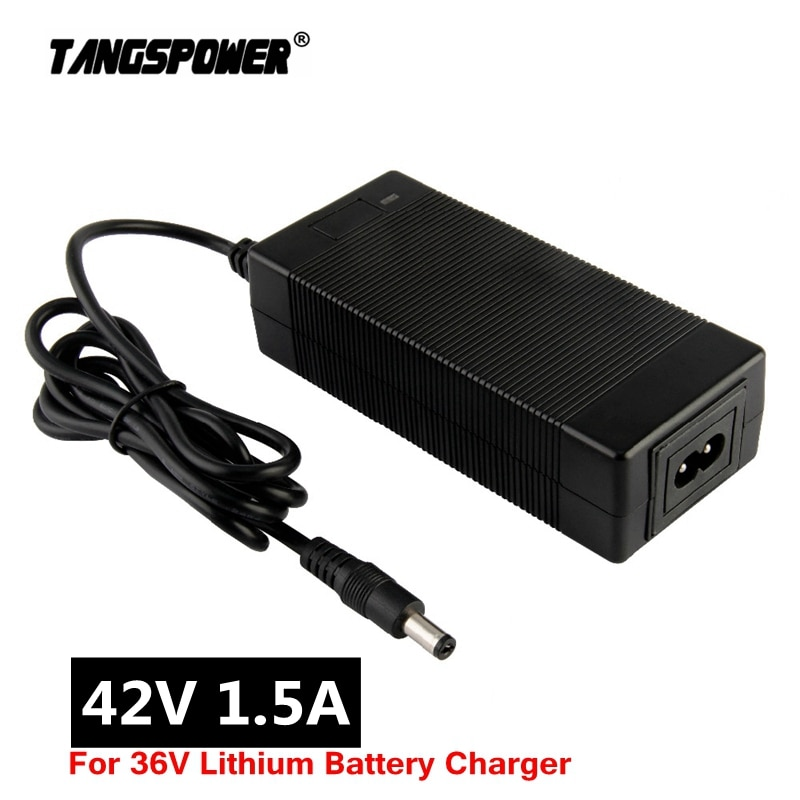 AliExpress - Output 42V 1.5A Lithium Battery Charger Input 100-240V For 10Series 36V Electric scooter e-Bike Charger DC 5.5*2.1 Connector