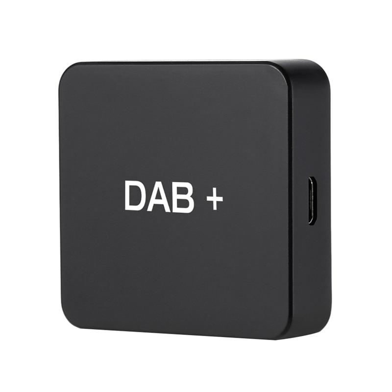 DAB+ Box Digital Radio Antenna Tuner for Car Radio Android 5.1 and Above FM Transmission USB Powered(Black)