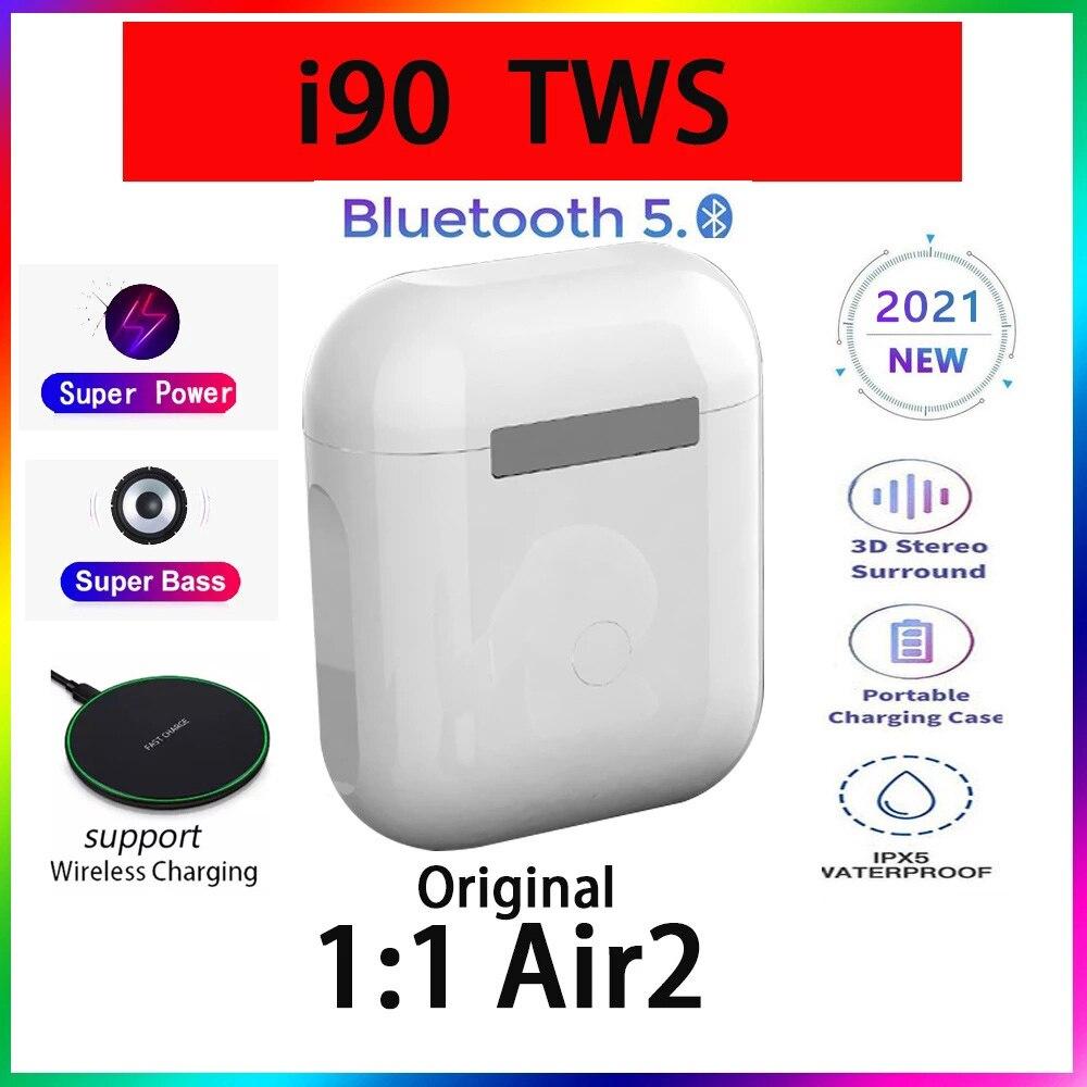 Original i90 Tws 1:1 GPS nombre auriculares Bluetooth inalámbricos PK i7 i11...