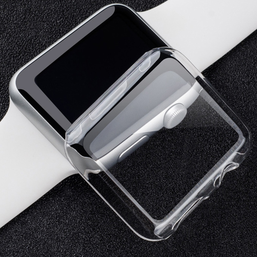 360 slim watch cover for apple watch case 5 4 3 2 1 42mm 38mm soft clear tpu screen protector for iwatch 4 3 44mm 40mm Protector case For Apple Watch 5 4 3 2 1 40MM 44MM 360 Clear TPU Cover Full Case For Iwatch 5 4 3 2 1 38MM 42MM