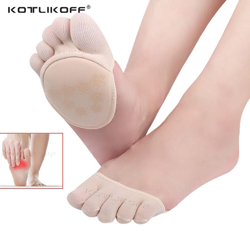 KOTLIKOFF algodón plantillas medias almohadillas de pie importa plantillas alivio del dolor en antepié masaje metatarsiano del dedo del pie almohadillas de soporte plantillas en la parte delantera