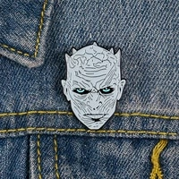 power game night king avatar cartoon shirt brooch enamel pins metal broches for women badge pines metalicos brosche accessories