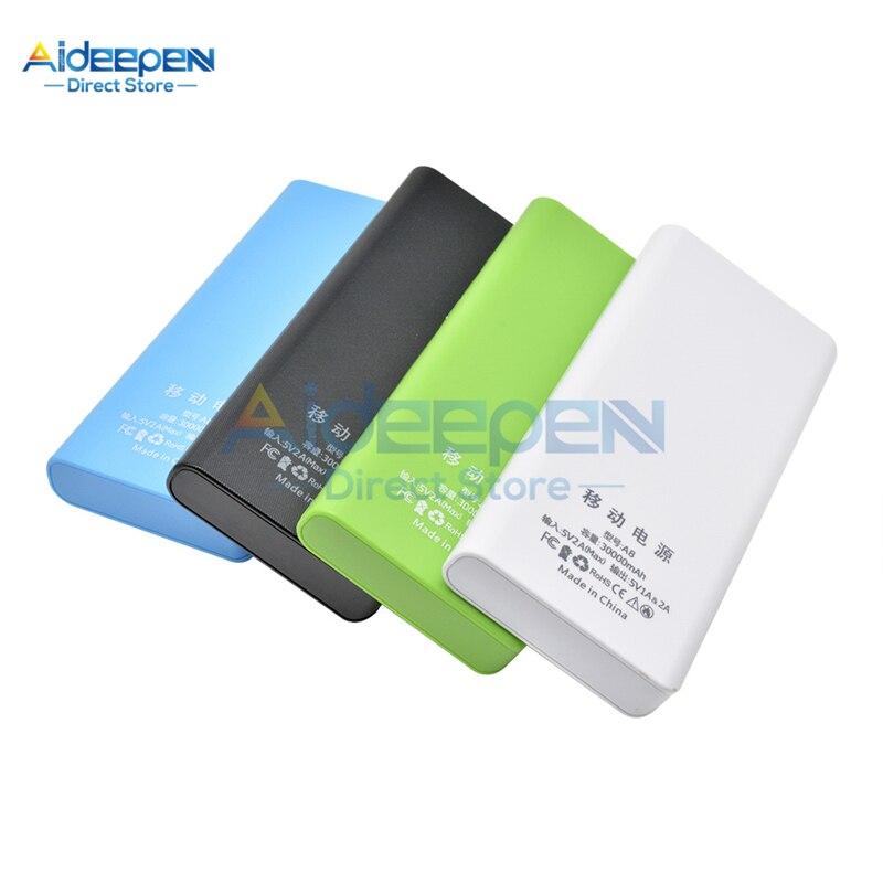 Batería portátil 8x18650 DIY caja de la cáscara del Banco de la energía móvil pantalla LCD Dual USB caja de la batería para Xiaomi Huawei iPhone