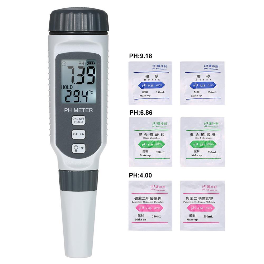 PH818 PH Tester Professional pH Water Quality Tester Portable Pen Type pH Meter Acidometer for Aquarium Acidimeter  Measure pocket vibrometer pen type vibration meter tester gauge analyzer measure precision sensitivity accelerometers smartsensor as63d