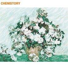 Chenistory 프레임 diy 그림 번호로 꽃 풍경 그림 서예 벽 예술 캔버스 회화 홈 장식 선물