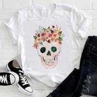 summer women clothing 2021 skull graphic t shirts short sleeve femme o neck fashion t shirt casual tee shirt ladies