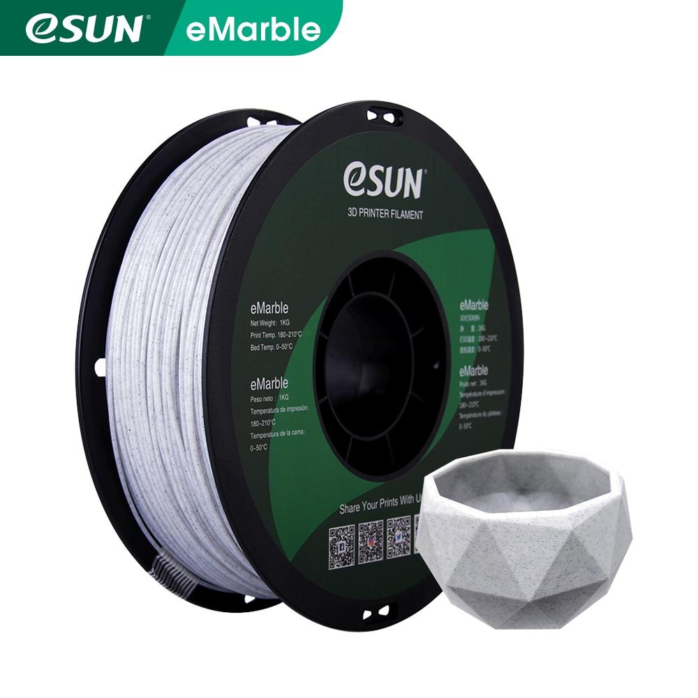 Нить для 3D-принтера eSUN Marble PLA 1,75 мм, нить для мраморного принтера PLA +/-0,05 мм, 1 кг, фунта, катушка, нить для 3D-принтера s