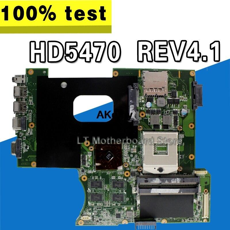إرسال مروحة + K42JR اللوحة القس 4.0 512M HD5470 ل For Asus k42j x42j a42j A40J K42JR K42JZ K42JB K42JY k42jz اللوحة المحمول