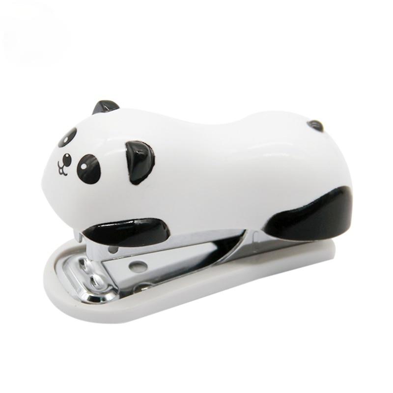 Мини милый удобный новый степлер с мультяшной пандой офисные принадлежности бумажный зажим переплетная машина для связывания книг
