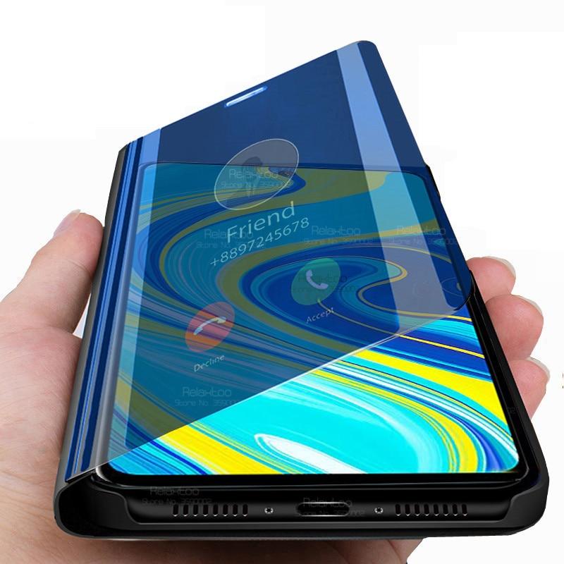 On Redmi notes 9 s Case Smart Mirror Flip Case For Xiaomi Redmi Note 9s note9 s note9s not s9 phone cases book cover stand coque