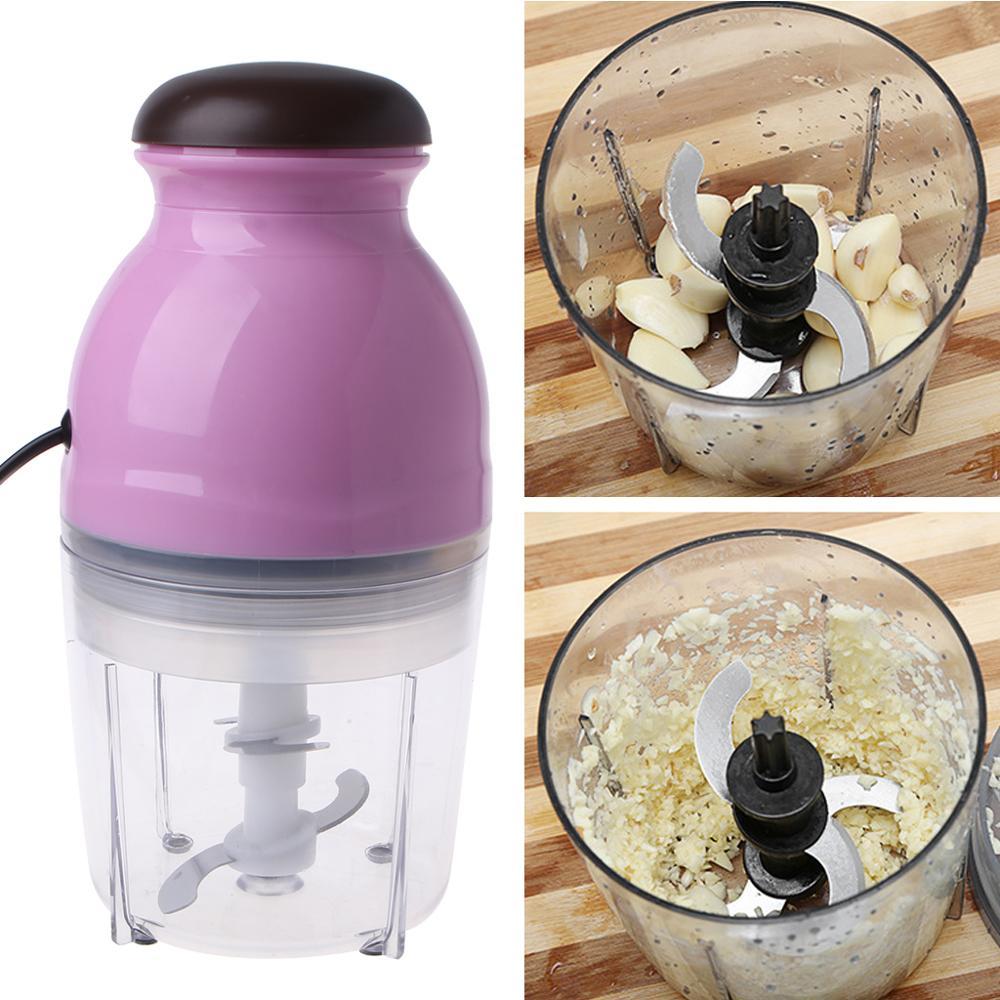 Mini processador de alimentos moedor carne elétrica frutas vegetais liquidificador chopper 600ml plugue da ue