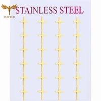 golden cross stud earrings for women and men stainless steel stud earrings set simple fashion couple jewelry new 2021