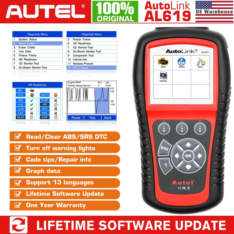 aliexpress.com - Autel AL519 AL619 OBD2 Scanner Diagnostic Tool Car Diagnostic Scaner Code Reader Automotriz ABS,SRS Automotive Scanner Scan Tool