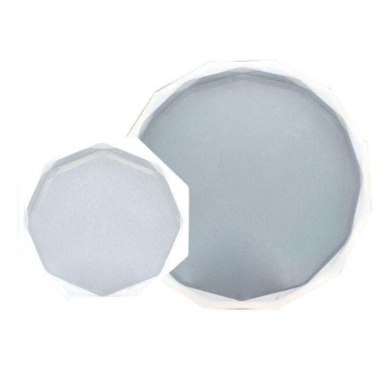 Molde de silicona para taza DIY de 2 uds, molde de resina epoxi UV, Base de posavasos, fabricación de joyas Q0KE