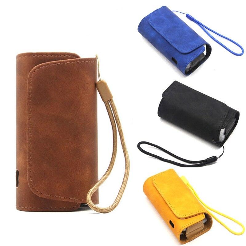 Модный флип двойной чехол-оболочка мешочек с держателем чехол кожаный чехол для Iqos 3