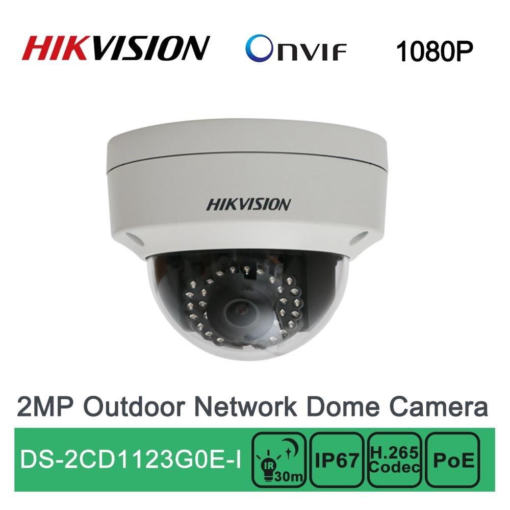 DS-2CD1123G0E-I Hikvision 2MP открытый H.265 IP купольная камера Onvif сетевая камера безопасности PoE P2P Облако 1080P ИК IP67 водонепроницаемый