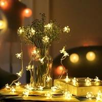 Guirlandes lumineuses a fleurs  lampes a piles en cuivre  accessoires de decoration pour noel  maison  vacances  cour