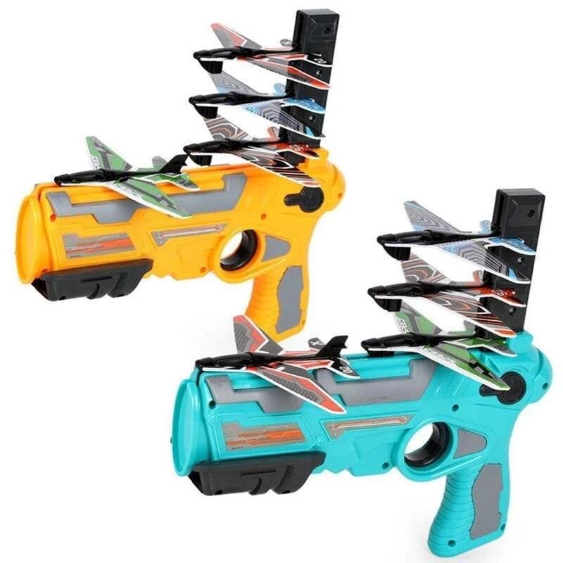 Катапульта самолет пены воздушный бой нажатием одной кнопки выброса модель пусковые установки игрушка модель планера на открытом воздухе ...