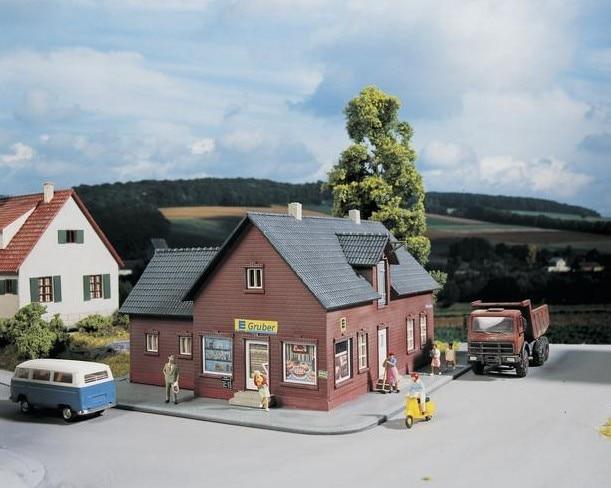HO 1:87 نموذج مقياس مصغرة متجر الأوروبي للتسوق السكك الحديدية تخطيط إشارة المشهد القطار