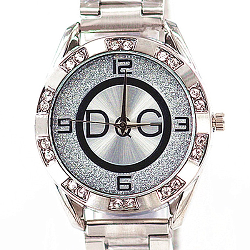 Reloj Mujer Luxury Brand DQG Women Watches New Fashion Casual Crystal Ladies Watch Golden Metal Mesh Women Quartz Wrist Watches 2019 fashion luxury women watches casual diamond mesh new strap quartz watch analog wrist watch womens watches reloj mujer