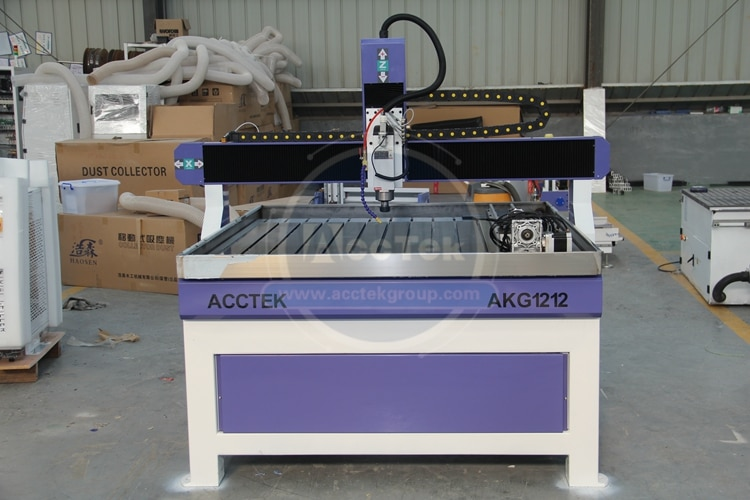 AccTek alta carga rodamiento multifuncional corte de madera acrílico MDF cnc maquina enrutadora AKG1212