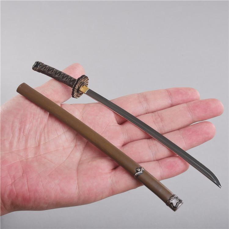 Японские модели мечей ниндзя в масштабе 1/6, для фигурок 12 дюймов, аксессуары для тела «сделай сам», 20 см
